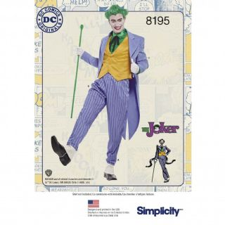 8195 Simplicity Pattern: Mens Costume